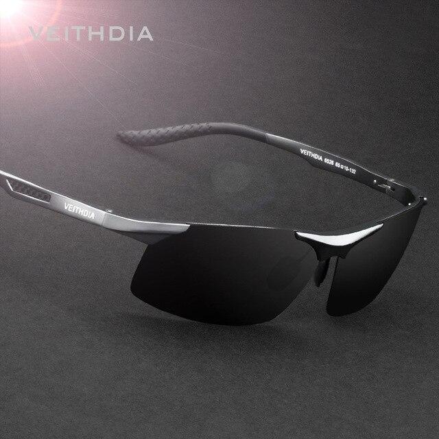 a663fa0a776c1 2017 VEITHDIA Polarized Vintage Male Men Sunglasses Aluminum Magnesium Sun  glasses Mirror Eyewear gafas oculos de