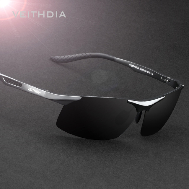 Polarized Vintage Male Man Safe Sport Sunglasses Aluminum Magnesium Sun glasses Mirror Driving Eyewear Anti Glare/High Beam 6526