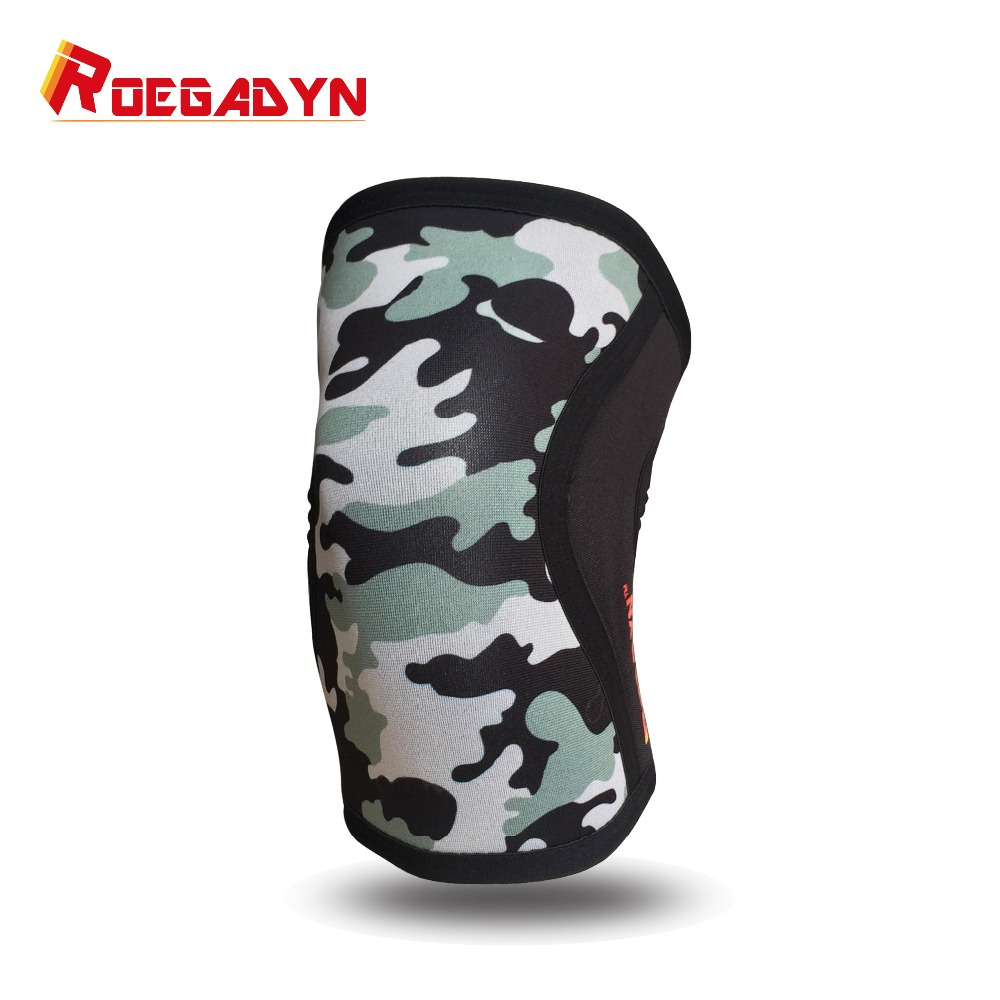 High quality Manufacturer 5mm Fitness neoprene elastic powerlifting Compression knee Sleeves for fitness crossfit цена