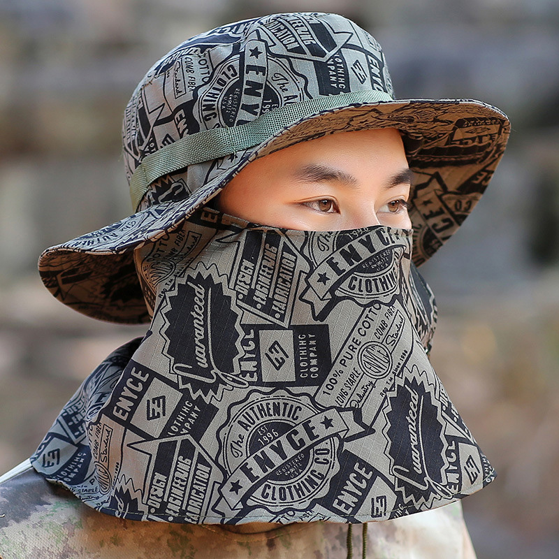 цена на Sports Visor Caps Men's Outdoor Recreational Bucket Hats Leisure Camouflage Sun Hat Military Tactical Full Protective Cap sale