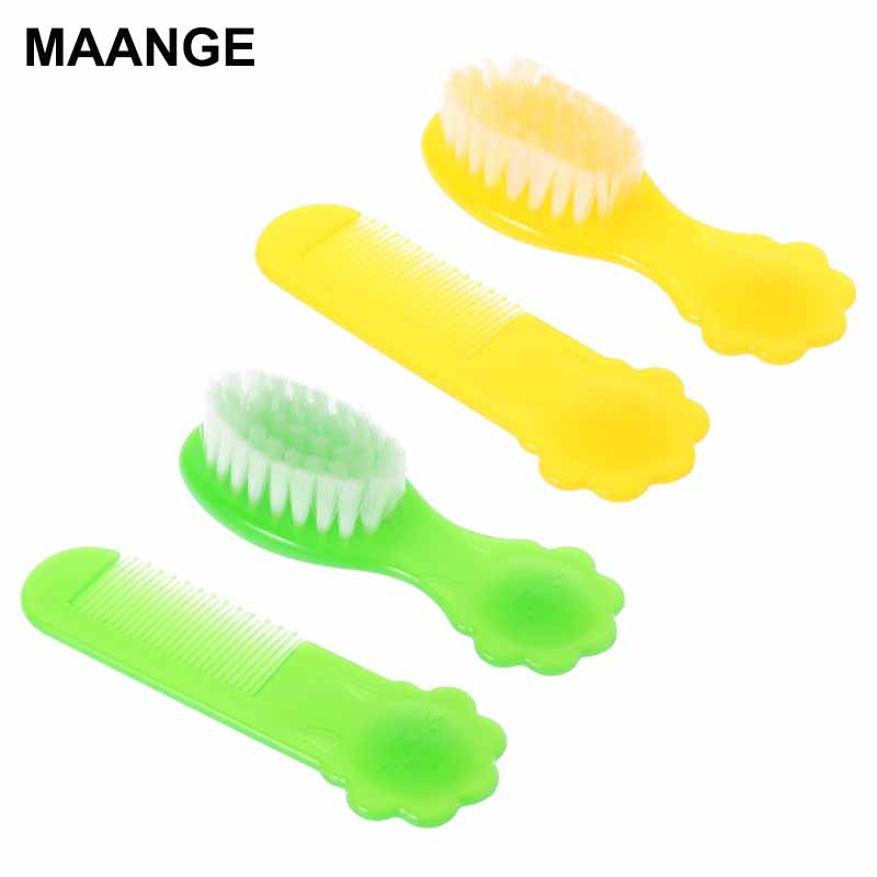 1 Set Baby Brush Comb Hair Head Massage Nylon Soft Round Tip Newborn Kids Care