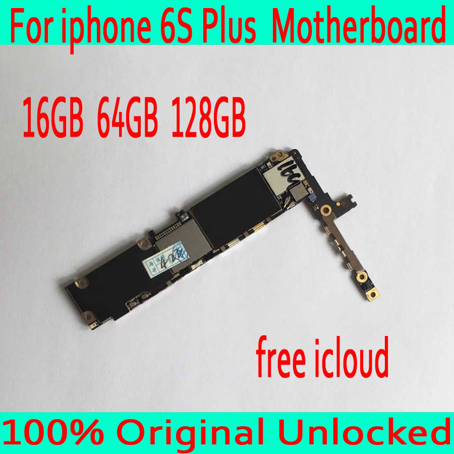 16 GB 64 GB 128 GB para iphone 6 S Plus placa base + iCloud original desbloqueado para iphone 6 S Plus placa lógica sin Touch ID