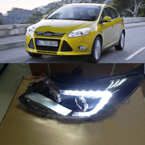 Ownsun 2013 Model C Blade LED Bi-Xenon Projector Lens Headlight for New Ford Focus 2012 ownsun new style tear drop led projector lens headlight for new ford focus 2012 2013