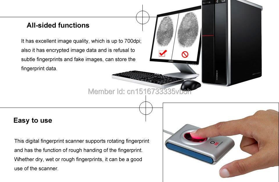 Цифровой персональный считыватель отпечатков пальцев DigitalPersona USB биометрический сканер отпечатков пальцев URU4000B программное обеспечение бесплатно SDK KOTECH поставщик