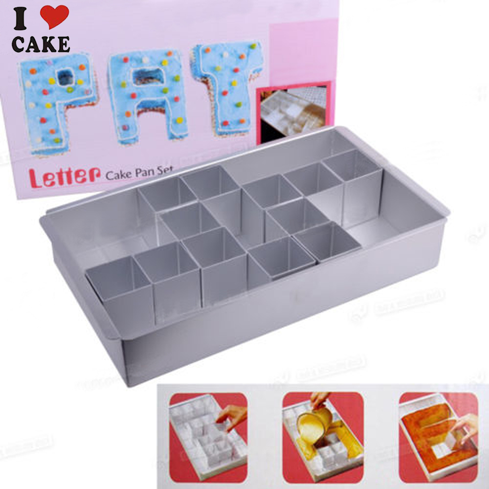 Buy letter number cake pan set cake for Kitchen set cake