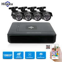 Hiseeu 1080P AHD Camera Cctv System 2 4 CH Mini DVR CCTV Kit Mobile View 1800TVL