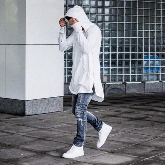 Fashion Men Extended Hoodie New Street Style Mens Hoodies Hip Hop