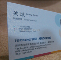 500pcs Wholesale Lenny Paper Bussiness Card Printing 2014 New Fashion Custom Paper Bussiness Card 300GSM Free