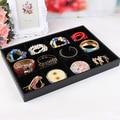 Black velvet 12 cortical plate necklace display tray hand plate jewelry box jewelry display shelf fashion jewelry organizer case