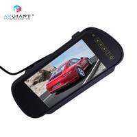 AZGIANT Dash Cam 7 Inch 7W Universal LCD Digital High definition HD DVD VCD Car Display Car Rearview Mirror DC12 24V
