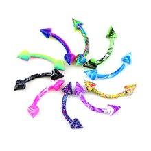 Aiovlo Многоцветный 8 цветов/лот нержавеющая сталь ювелирные изделия для тела Спираль пирсинг уха бровей носа губ Пленительные кольца