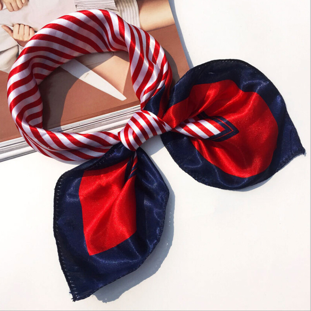 2018   Scarf   Women Fashion Women Square Head   Scarf     Wraps     Scarves   Ladies Printed Kerchief Neck   Scarf