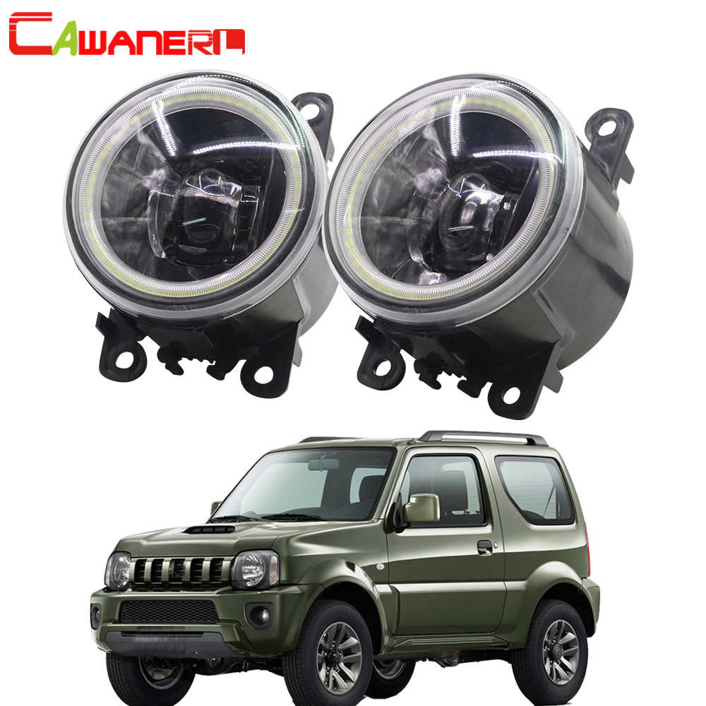 Cawaner For Suzuki Jimny FJ Closed Off-Road Vehicle 1998-2014 Car Styling 4000LM LED Bulb H11 Fog Light Angel Eye DRL 2 Pieces