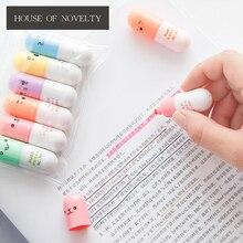 6 шт./упак. Творческий таблетки мини Цвет ful Карамельный цвет Маркеры рекламные маркеры подарок канцелярские