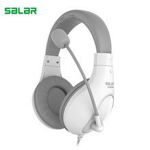 Salar A566N Gaming Headset three.5mm Wired Headphones with Microphone Stereo Encompass Headband for Pc PC Gamer