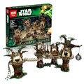 1990pcs Lepin 05047 Star Wars Ewok Village Building Blocks Juguete para Construir Bricks Toys Compatible with 10251 legoe