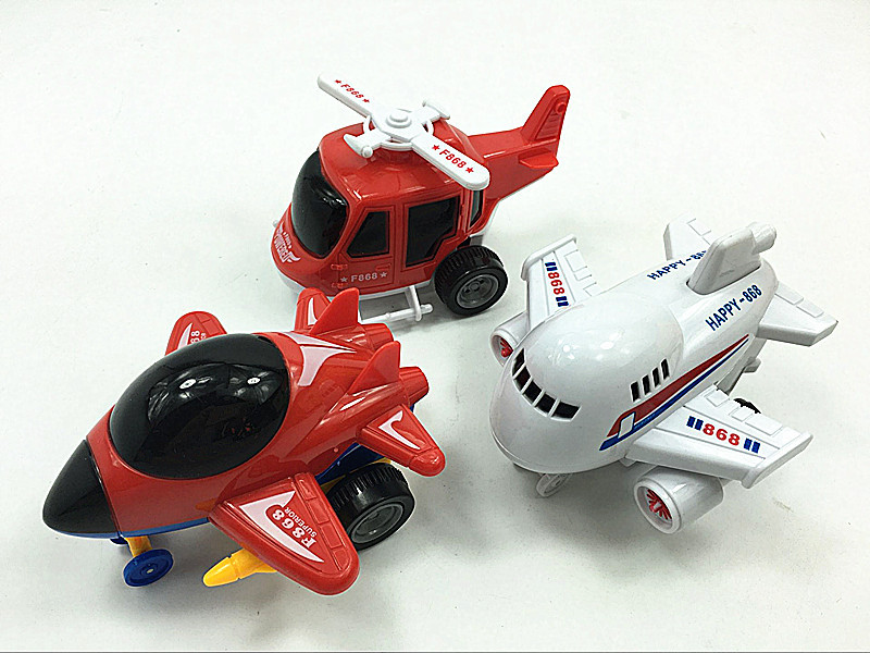 Kids Cartoon Inertial Small Aircraft Helicopter Airplane Toy Car Model Baby Educational Toys For Children Toddler Boy Plane Toys