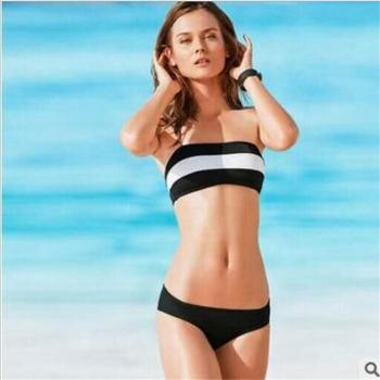 new Agent Provocateur black and white striped swimsuit bra sexy swimsuit explosion split suit Ms. image