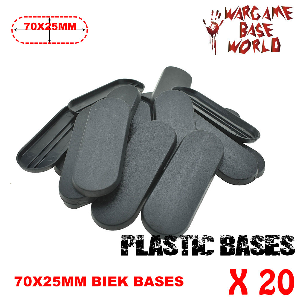 For Fw Model And Other Wargame 20 Piece 70x25mm Base Plastic Oval Bike Bases