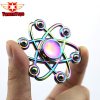 2017 New Colorful Hexagram Fidget Toys Pattern Hand Spinner Metal Fidget Spinner And ADHD Adults Children