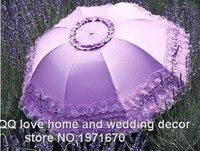 Sunshade Sunshades Female Vinyl Super Uv Sunscreen Princess Grace Folding Umbrella Super Light Lace Umbrella