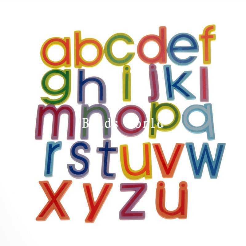 26 шт. Алфавит/Письма A-Z детские развивающие игрушки древесины магнит на холодильник украшения дома 13-56 мм (W04462 x 1)