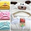 2016 горячая распродажа новая девочка / мальчик мультфильм пижамы животных форме халаты одеяние-дети мягких кораллов бархатной банное полотенце