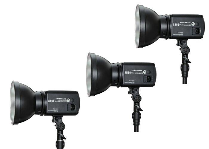 Cononmark 600WS AH60 mini photographic studio photoflash light ,Studio Strobe,lamp,Three lights +one 3G remote trigger cononmark 400ws g4 0 hss photographic studio outdoor strobe flashlight 3g remote video light for dslr camera