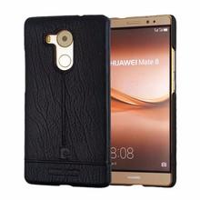 Pierre Cardin телефон чехлы для Huawei Mate 8 роскошный чехол оригинальный прошитой натуральная кожа тонкий жесткий задняя крышка для Huawei Mate 8