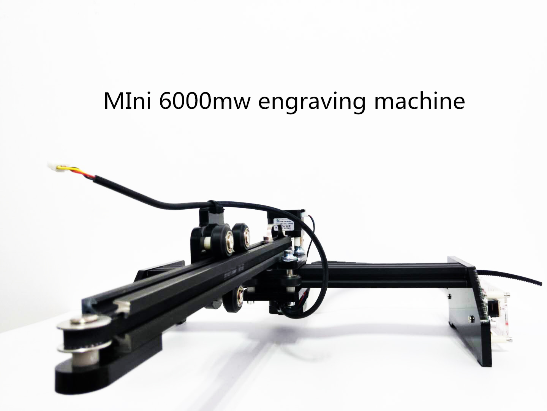 Free Shipping 6000mw 445~450nm Wood Metal Laser Engraver 5.5w Laser Cutter Cutting Machine 6w DIY Laser Machine Mini Engraver