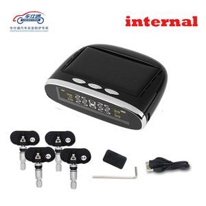 Image 2 - Car TPMS tire pressure monitor round wireless tire pressure monitoring alarm system LCD color display two installation methods