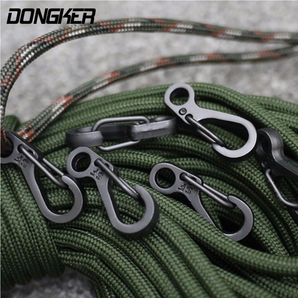 цена на 10Pcs/Lot Outdoor Mini Aluminium Alloy Hang Buckle Survival EDC Gear Carabiner Key Chain Clip Quickdraw Key Chain Travel Tools