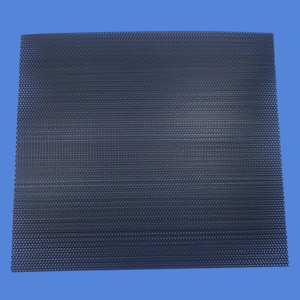 200x180mm Car Audio Tweeter Speaker Conversion Net Cover Decorative Circle Square Metal Mesh Grille Protection #Black