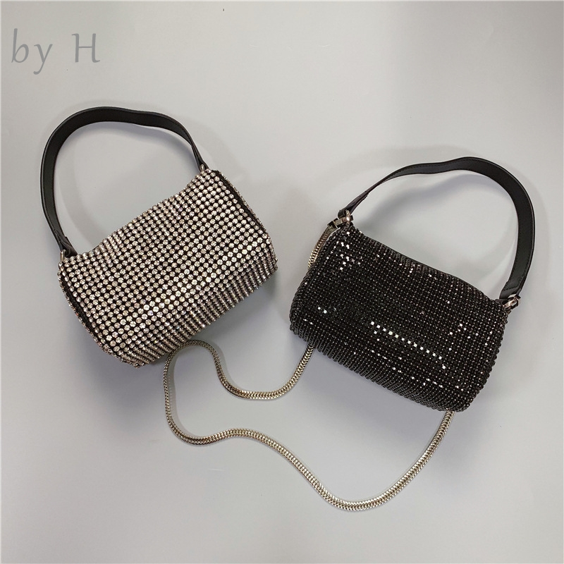 by H high quality luxury designers diamond little botson bag party bag evening bag womens fashion shoulder bag vintage 90's bag