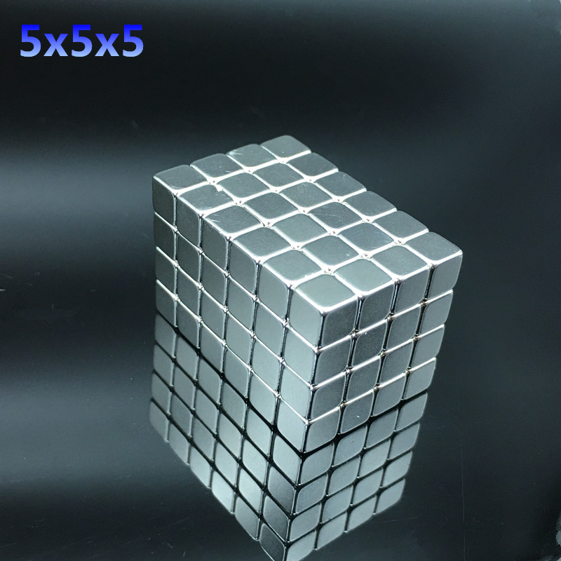 50pcs Neodymium magnet 5x5x5mm Rare Earth small Strong block permanent 5*5*5mm fridge Electromagnet NdFeB nickle magnetic square 1pcs 55 20 4 5mm strong power small sintered neodymium ndfeb permanent rare earth magnet 55x20x4 5mm