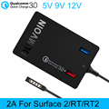 Fonte de Alimentação de superfície 2 RT RT2, DUMVOIN 72 W Carregador de Parede com QC3.0 usb 12 v 2a adaptador de carregador de energia para o microsoft surface rt rt2