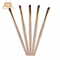 Wholesale 100pcs Angle Eye Makeup Brush For Eyebrow Eyeliner Eyeshadow Cosmetic Makeup Tool Beveled Eyebrow Brushe