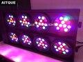 (2 лампы/корпус) Светодиодный прожектор 8eye rgbw светодиодный Блиндер стробоскоп для аудитории прожектор для театра flycase