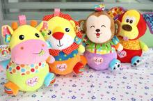 4 styles Cartoon Animal Roly-poly toy Baby Stuffed Plush Doll colorful tumbler Stuffed for child girls boys 20%Off