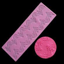 Красивая Кондитерская силиконовая форма DIY для цветов, кружева, помадки, Мусса с полями, декор для Sugarcraft, глазурь, коврик, кондитерские инстр...
