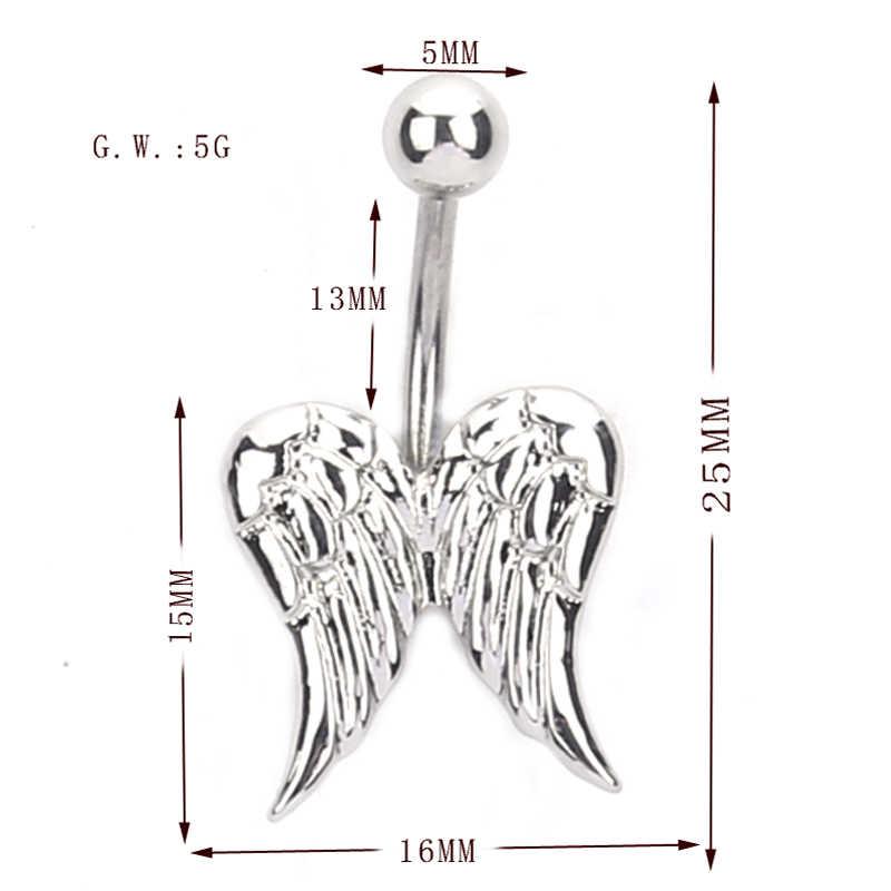 Крылья Ангела подвеска пупка пирсинг драгоценный камень пупка бруски болтаются пирсинг ювелирные изделия