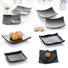 Frost Square Dish Sushi Plate Japanese Dinnerware Snack Originality Cold A5 Melamne Tableware Dinner