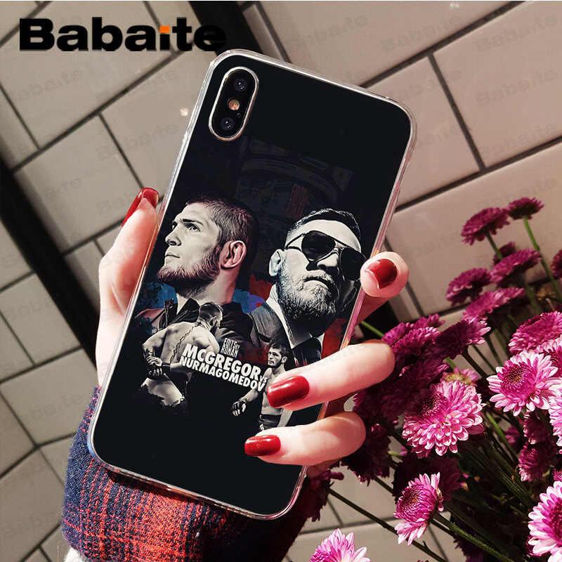 Babaite UFC Конор Макгрегор Хабиб нурмагомедов ТПУ Мягкий силиконовый чехол для телефона чехол для iPhone 7 8 6 6 S Plus X XS MAX 5 5S SE XR