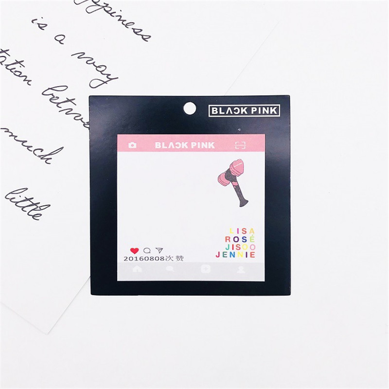 Bts Bangtan Boys Got7 Blackpink Stickers Paper Mini Sticky Notebook Memo Pad Gift Jisoo Rose Jennie Hf129 Elegant And Sturdy Package Costume Props Costumes & Accessories