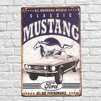 Vintage Style All American muscle classic mustang Decorative Metal Signs 20x30cm iron Painting Bar Pub wall art metal plates