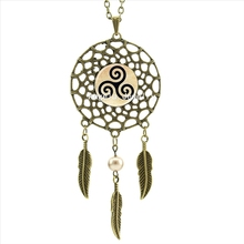 Teen Wolf Triskelion Dream Catcher Necklace