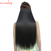 5 Pieces/lot X 25 Colors Synthetic Clip in Hair Extension Women Straight Clips Pieces 60cm Length Hairpiece 100g