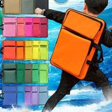 Модная однотонная художественная школьная сумка, Детская Водонепроницаемая художественная сумка, принадлежности для художественных эскизов, доска для рисования, сумка для детей