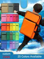 Fashion Solid Colors Art School Bag Children Waterproof Art Bag Sketch Art Supplies Drawing Board Bag For Kids