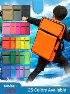 Image 1 - Fashion Solid Farben Kunst Schule Tasche Kinder Wasserdichte Art Tasche Skizze Kunst Liefert Reißbrett Tasche Für Kinder